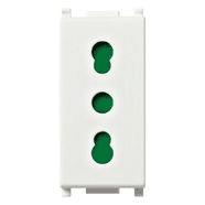 14203 | 2P+E 16A P17/11 outlet white
