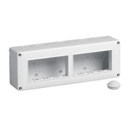 14837 | IP40 enclosure 8M 4x2 horizontal