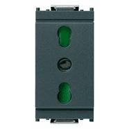 16203 | 2P+E 16A P17/11 outlet grey