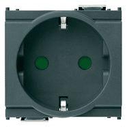 16208 | 2P+E 16A German SICURY outlet grey