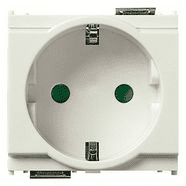 16208.B | 2P+E 16A German SICURY outlet white