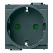 17038 | 2P+E 16A German SICURY outlet grey