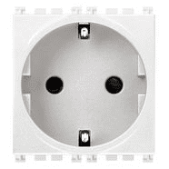 19208.B | 2P+E 16A German SICURY outlet white