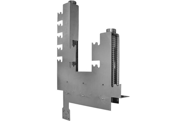 Grill mechanism single M stainless steel with galvanized worm drivers