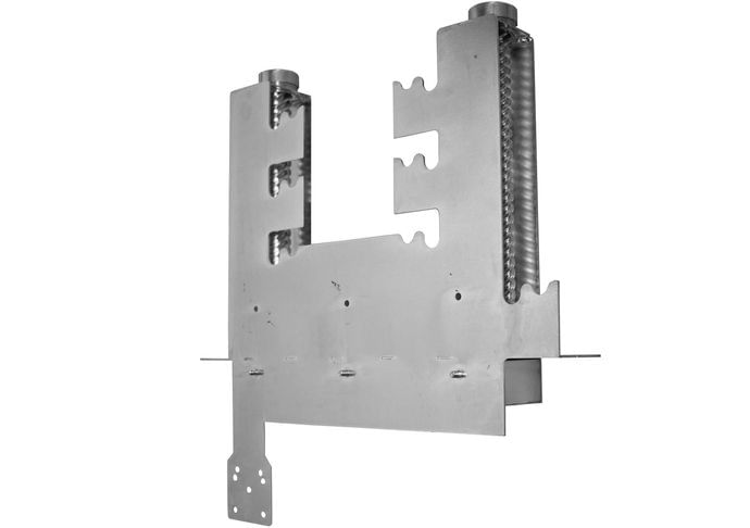 Grill mechanism small B stainless steel with galvanized worm drivers