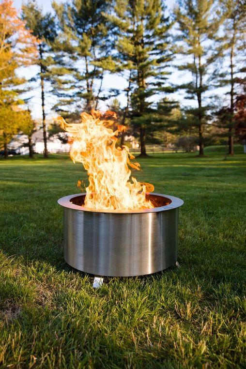Double Flame 24 Smokeless Fire Pit - Stainless