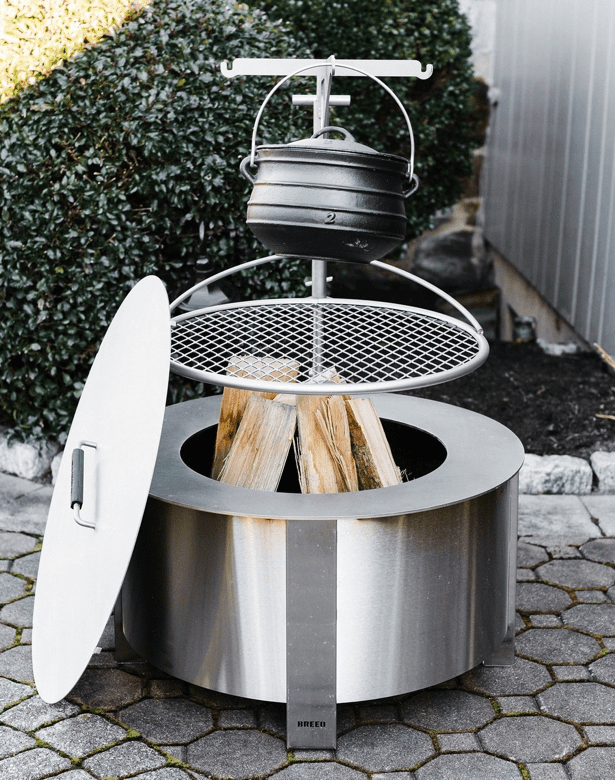 Stainless Steel Fire Pit and Accessories