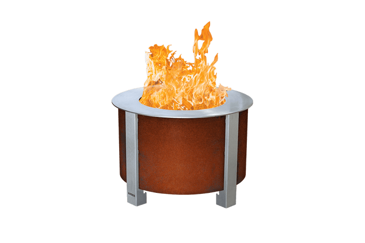 Corten X Series 19 Smokeless Fire Pit with Sear Plate