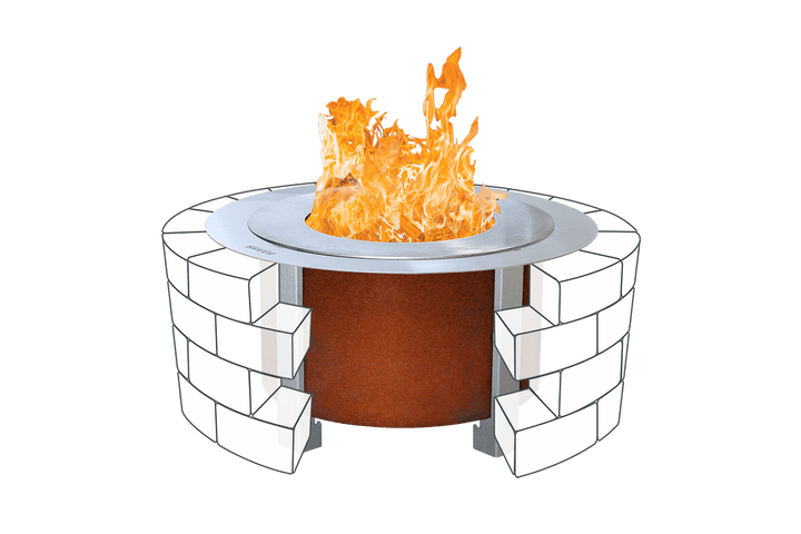 Corten X Series 19 Smokeless Fire Pit Sear Plate with Insert Ring