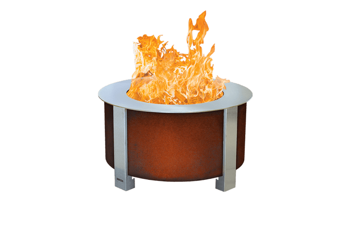 Corten X Series 24 Smokeless Fire Pit with Sear Plate
