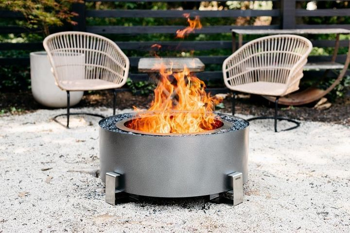 Luxeve® Fire Pit - Silver Vein