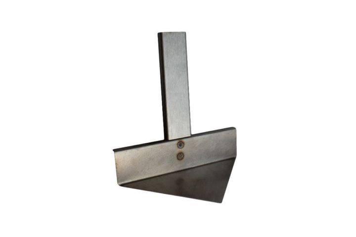 Triangular Ash Tool for ash removal from X Airflow smokeless fire pit system.