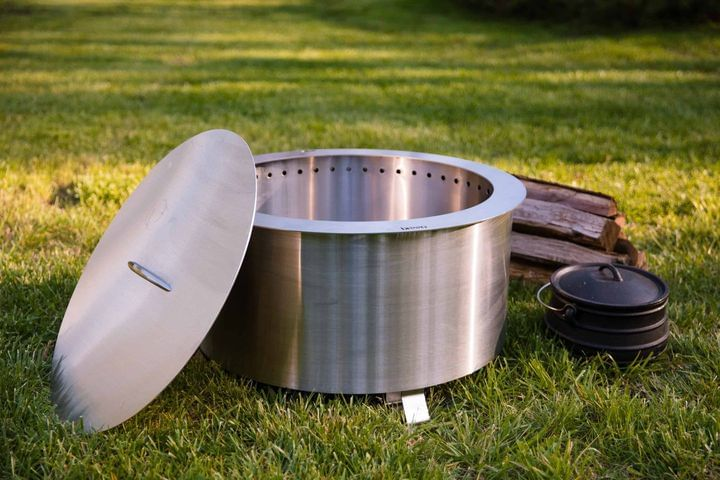 Double Flame 24 Lid - Stainless Steel