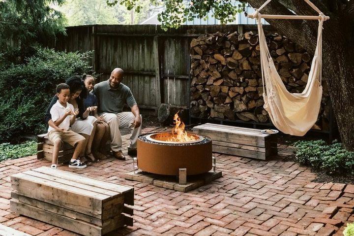 Luxeve® Fire Pit - Earth Rust