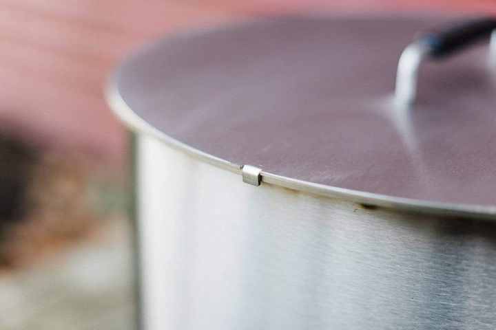 X series lid on stainless steel X Series fire pit