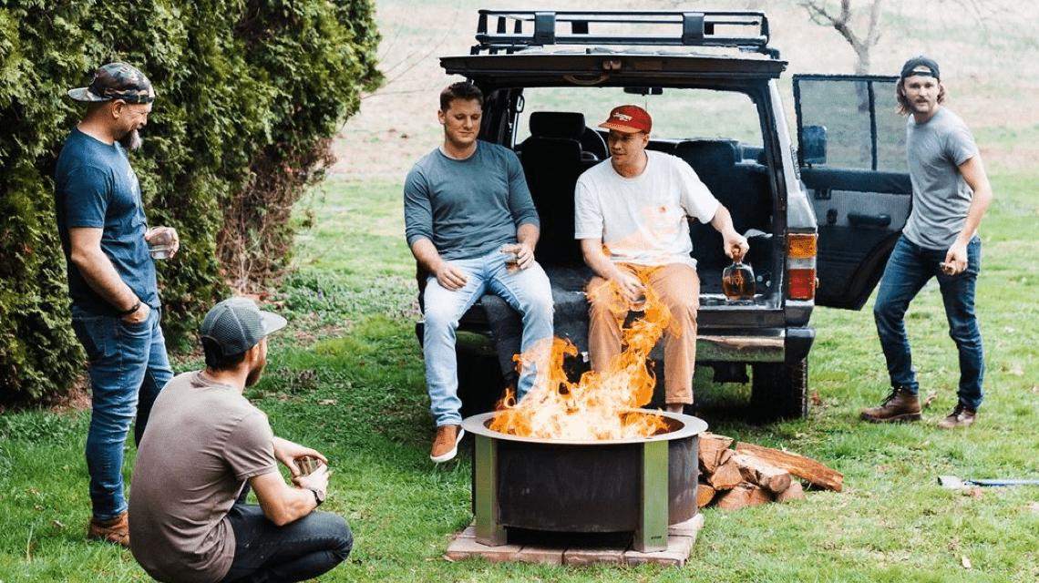 Social Gathering around Smokeless Fire Pit
