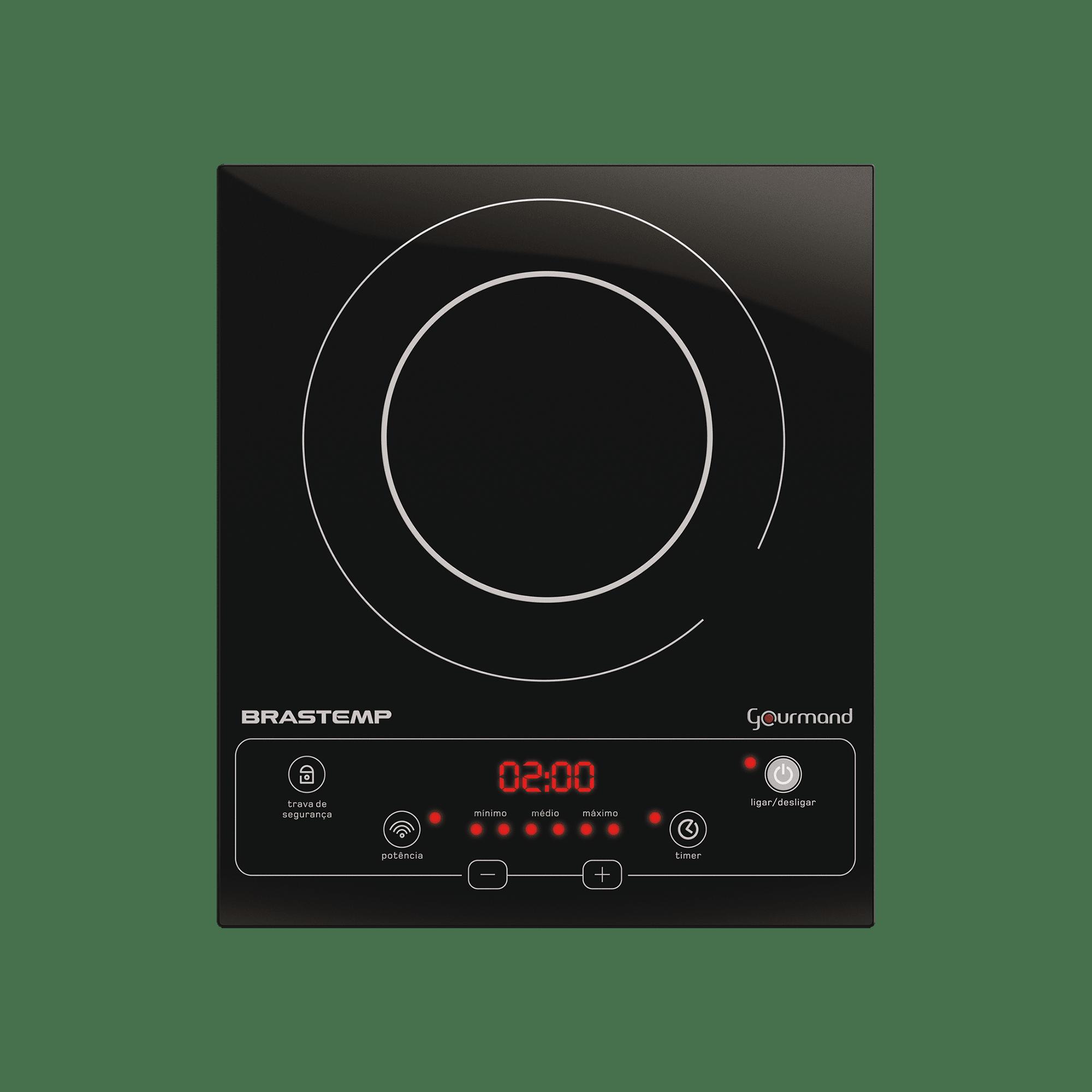Cooktop 1 boca de indução Brastemp Gourmand portátil com Timer Touch - BDJ30AE