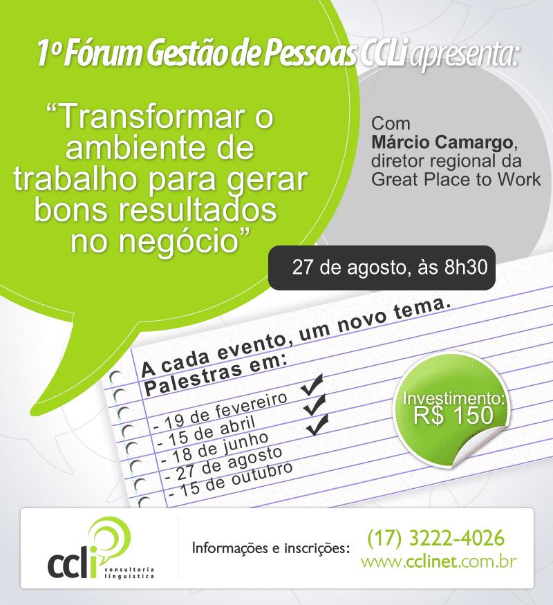 No dia do psicólogo, CCLi promove Fórum de Gestão de Pessoas