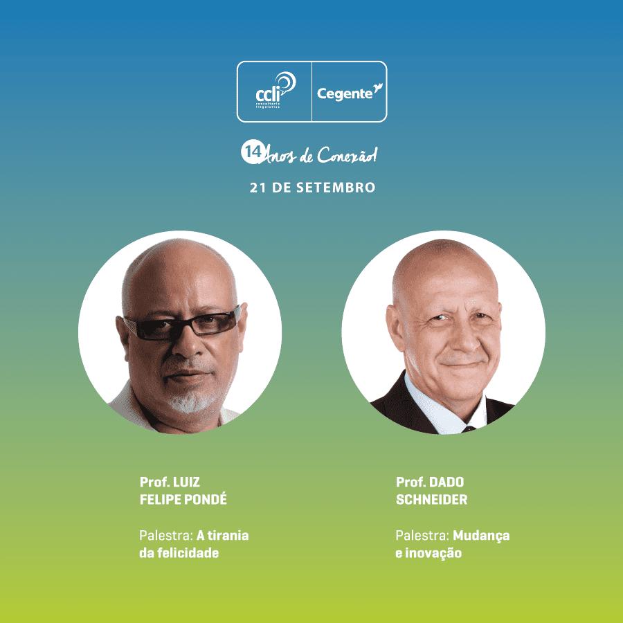 Luiz Felipe Pondé e Dado Schneider pela primeira vez em Rio Preto