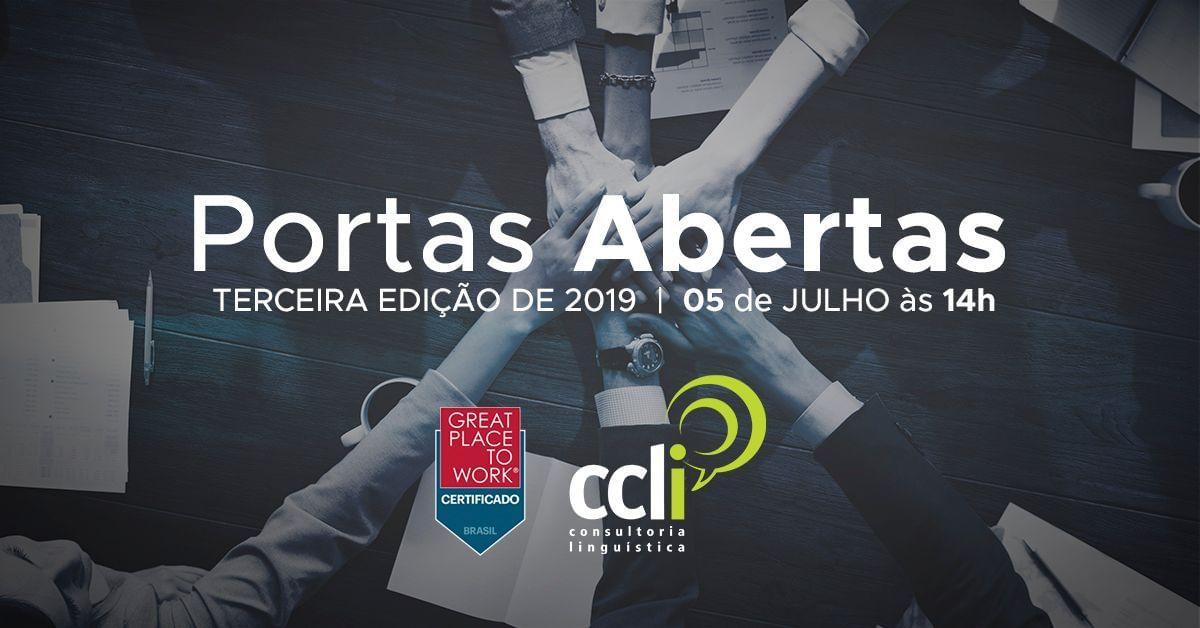 CCLi Portas Abertas 2019 – 3ª Edição