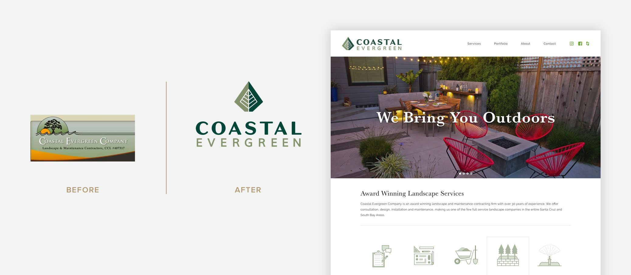 Coastal Evergreen - Logo Before & After