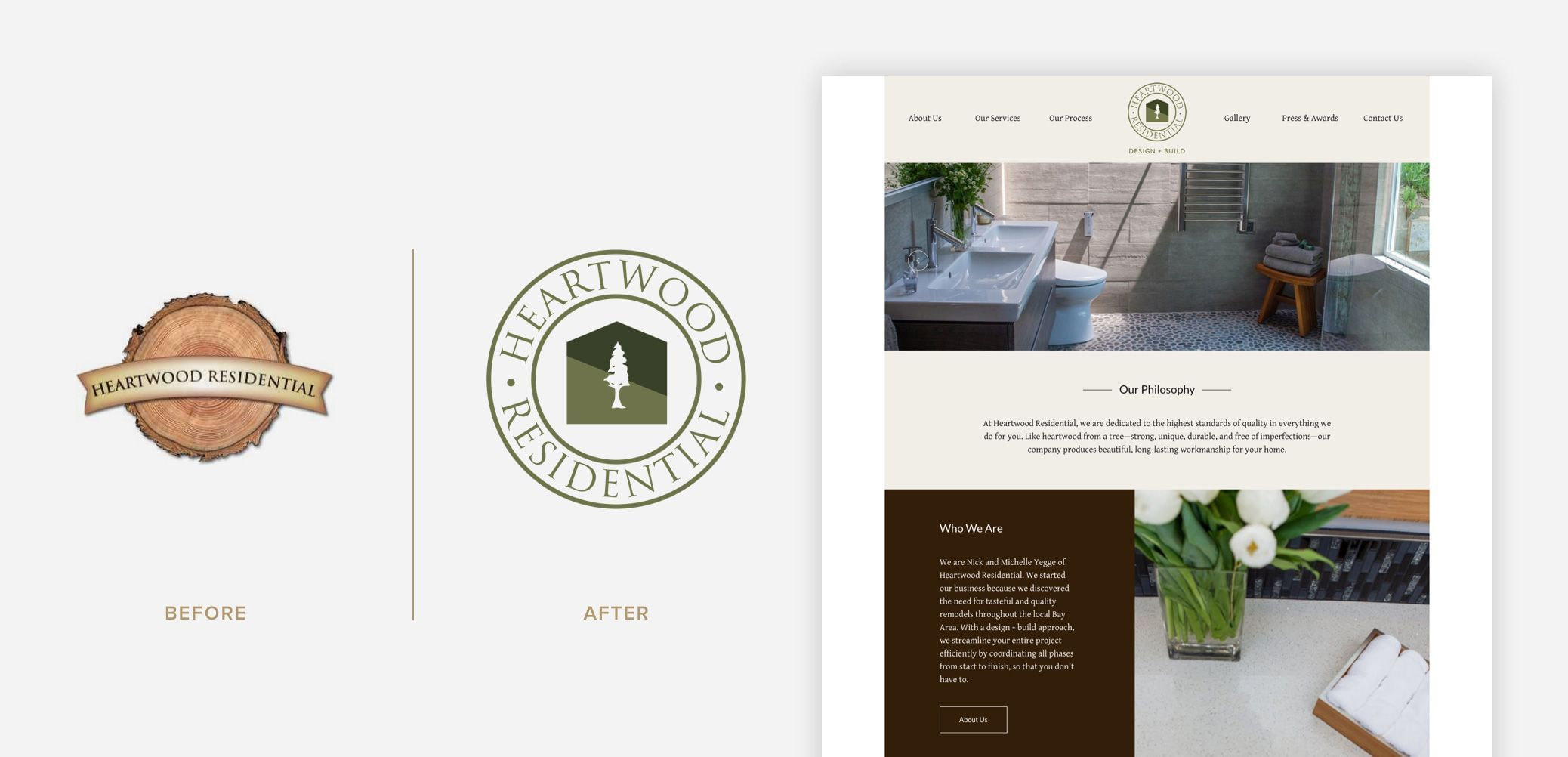 Heartwood Residential - Logo Before & After