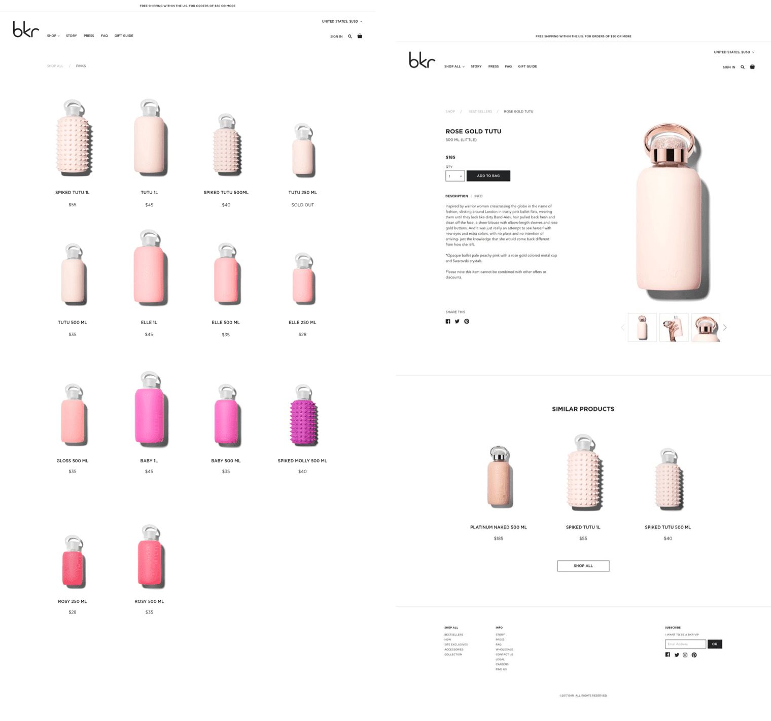 Bkr Product Pages