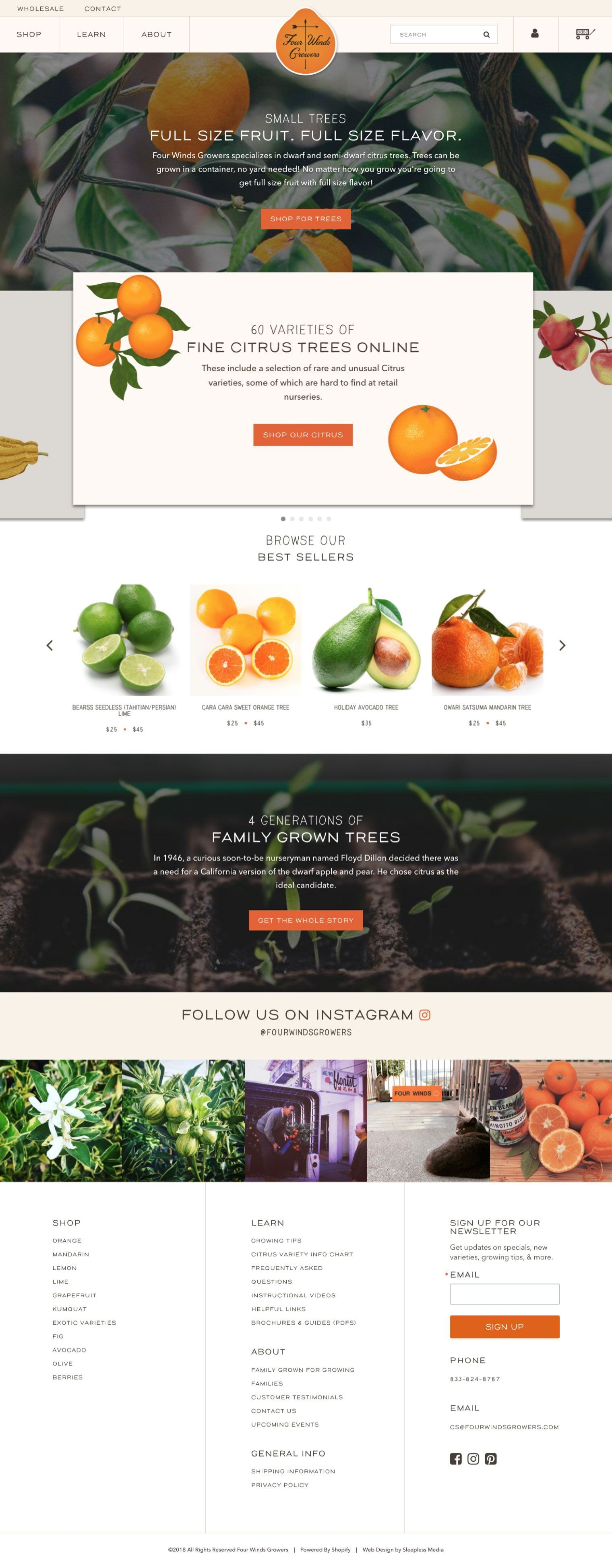 Four Winds Growers Homepage