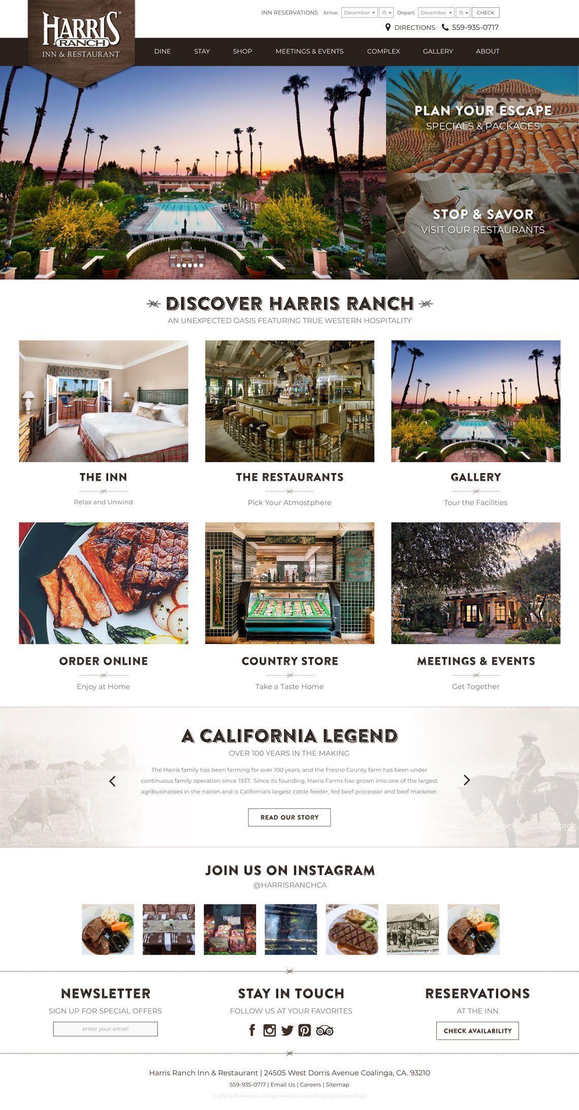 Harris Ranch Homepage