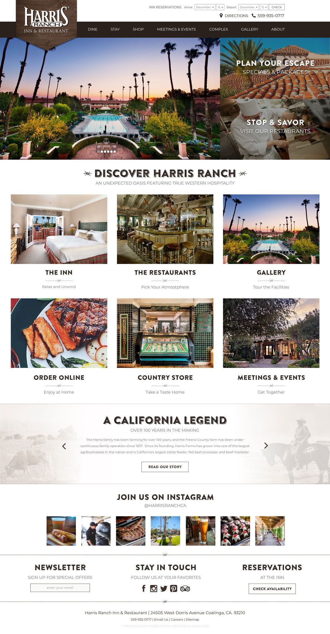 Harris Ranch - Homepage