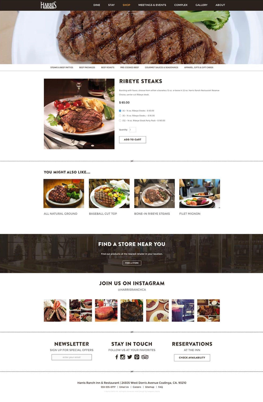 Harris Ranch Shop Page