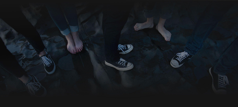 A bunch of feet