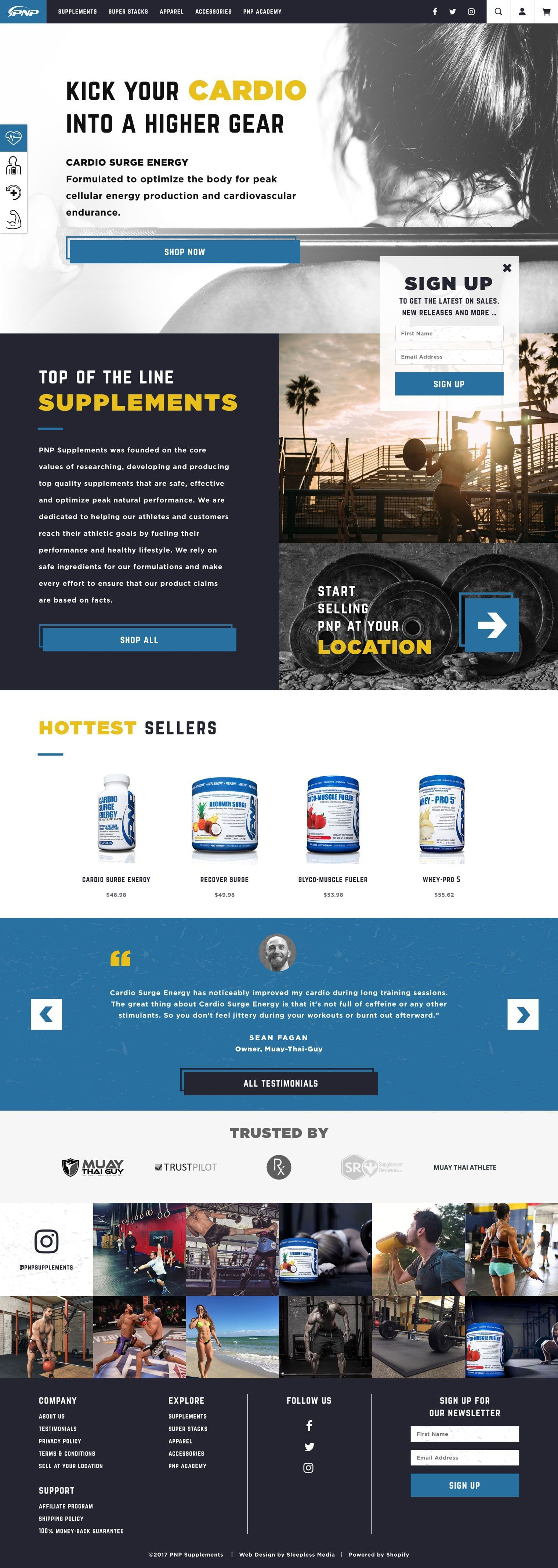 PNP Supplements Homepage