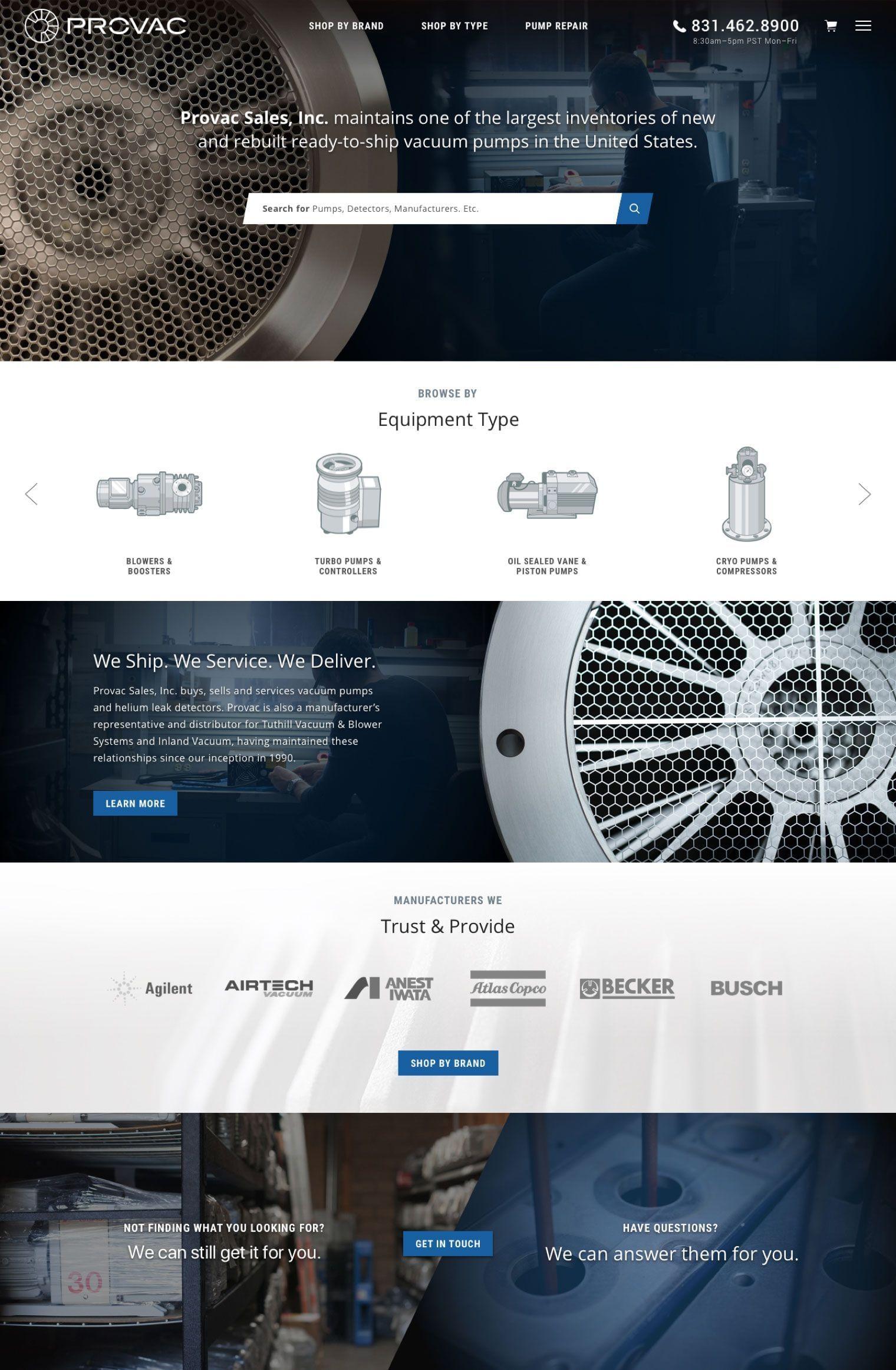 Provac Homepage