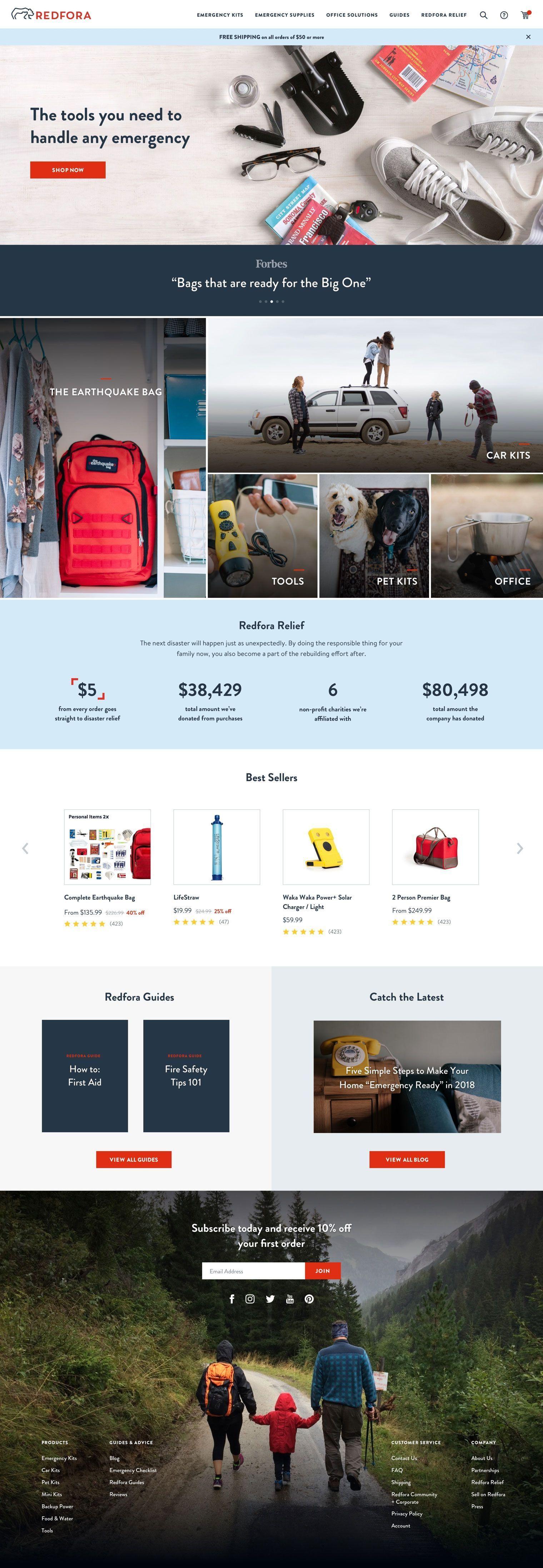 Redfora Homepage