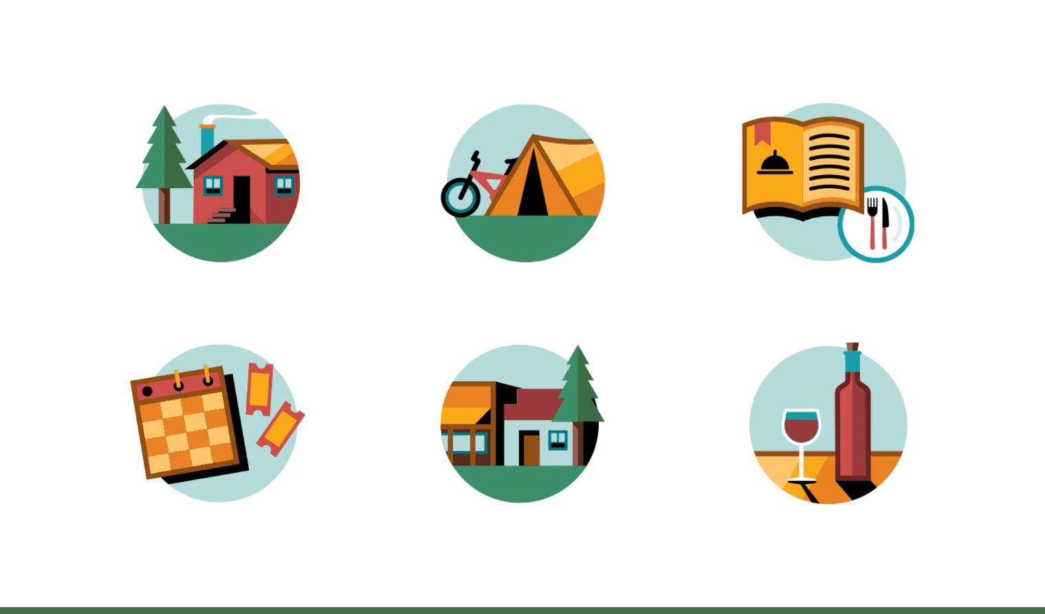 Santa Cruz Mountains Icons