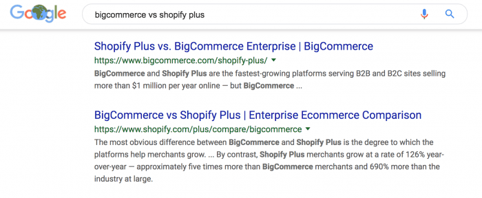 Shopify Plus and BigCommerce going at it