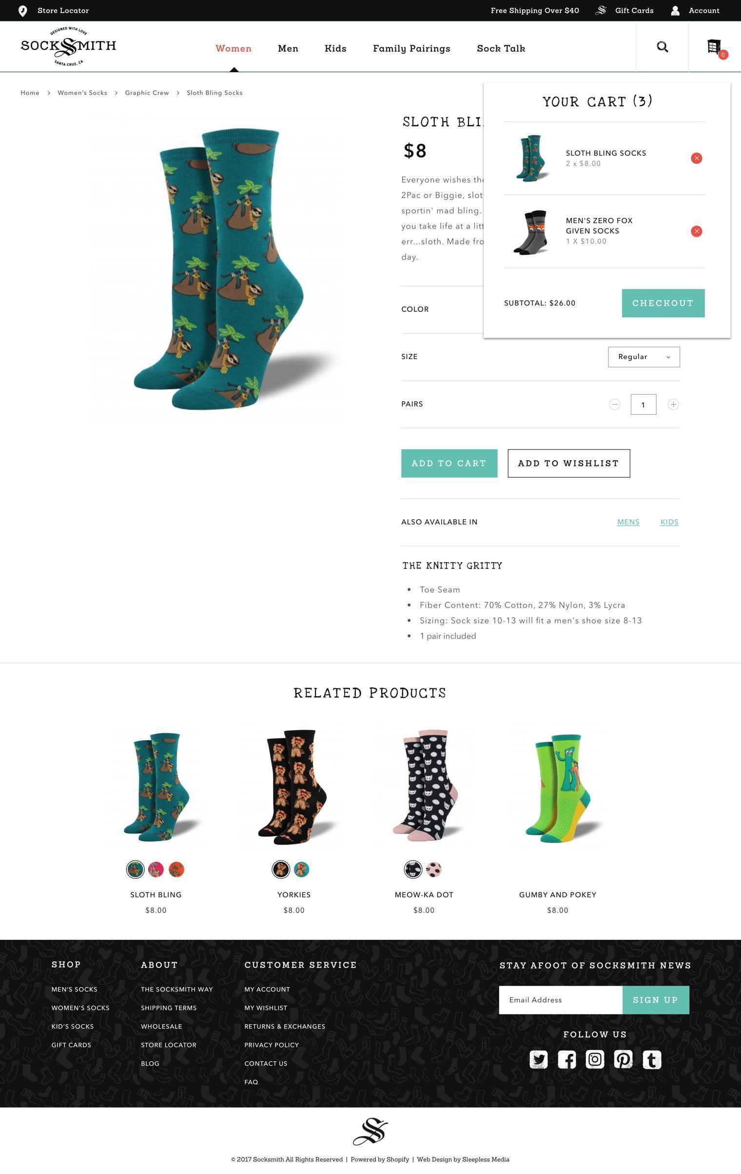 Socksmith - Checkout