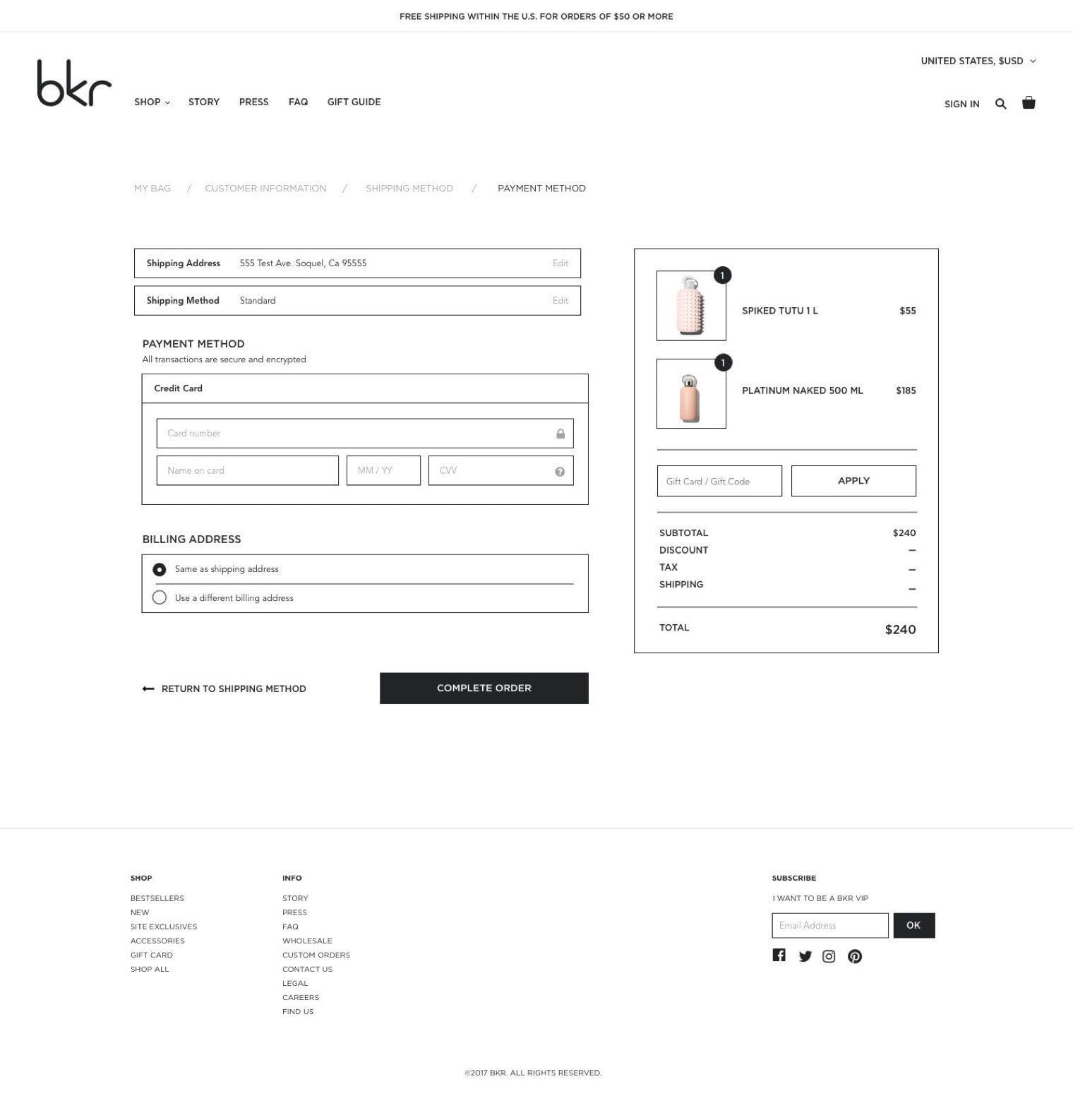 bkr Checkout
