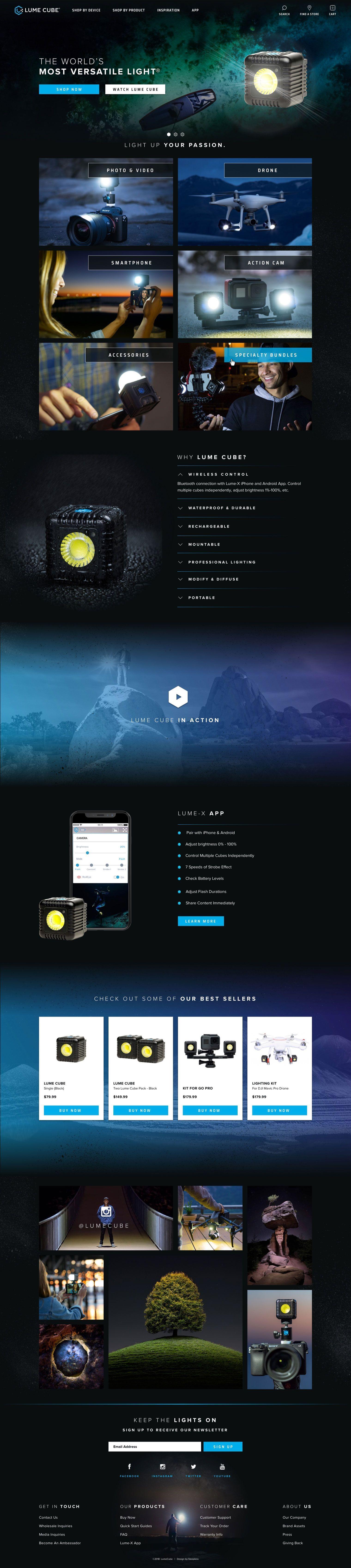 Lumecube Homepage