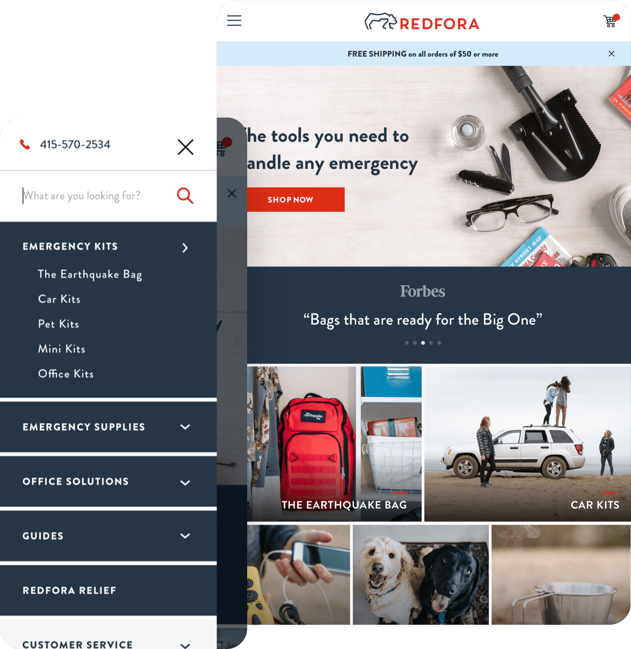 Redfora Mobile and Tablet