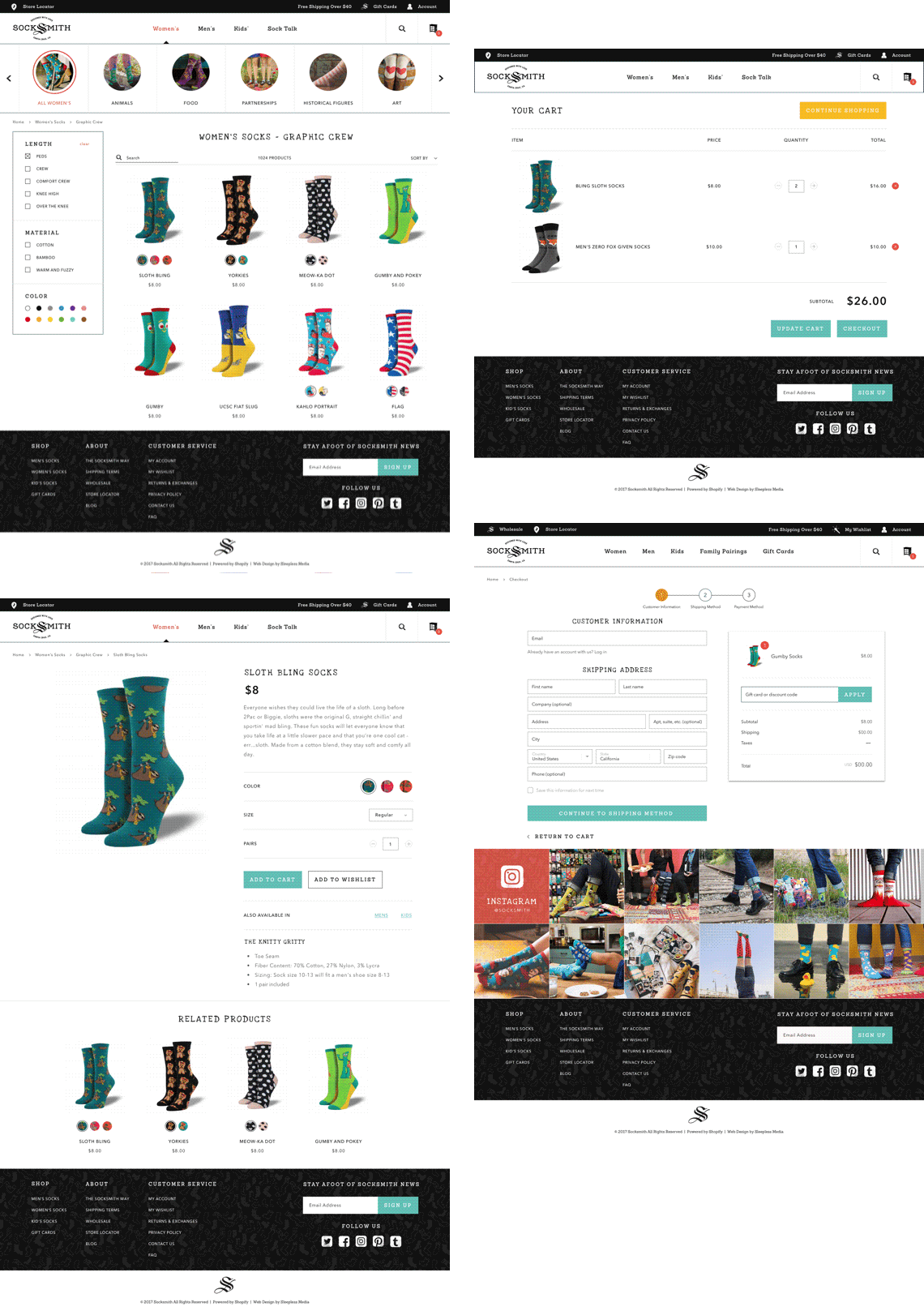 Socksmith - Shop Pages