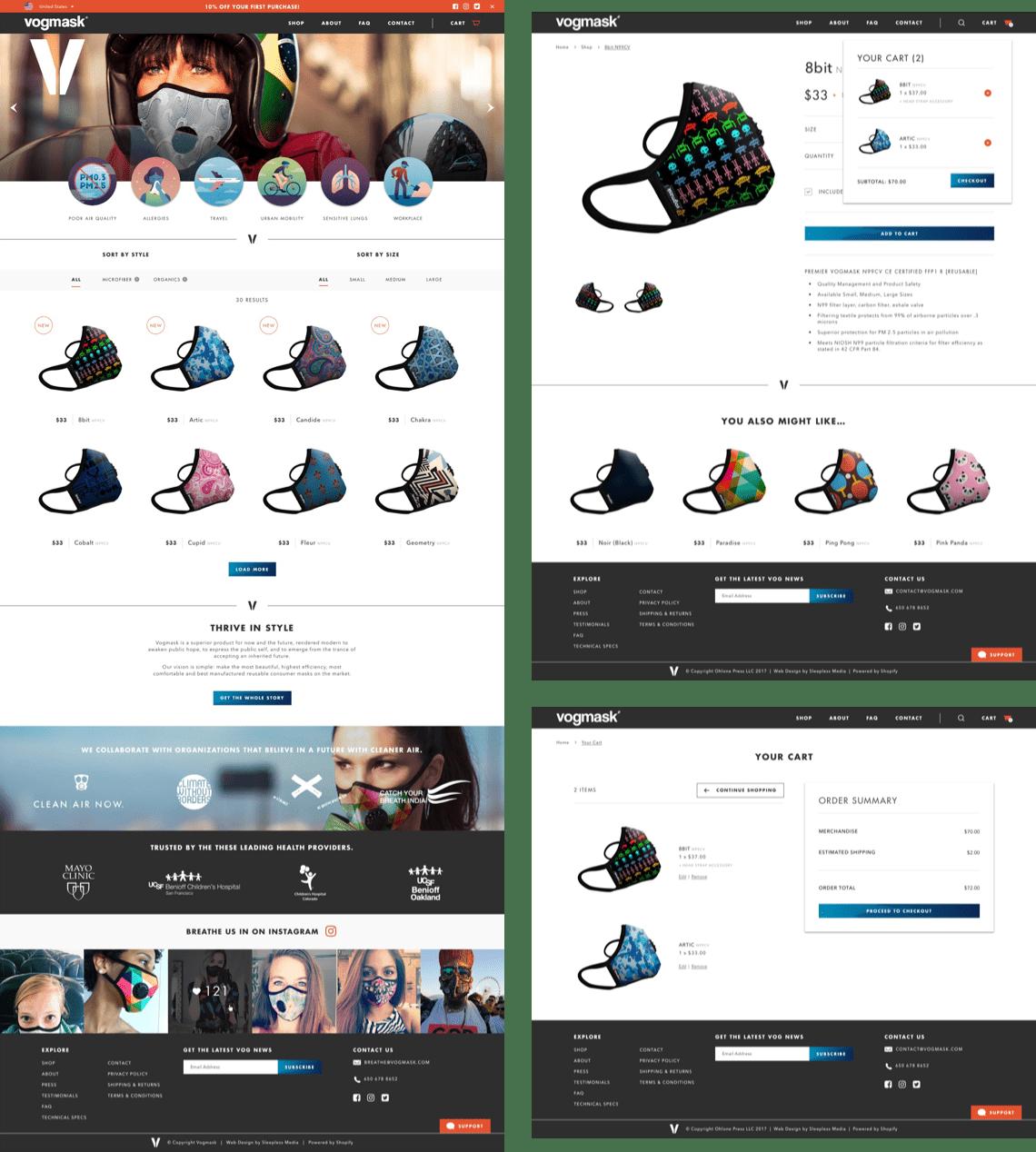 Vogmask - Shop Pages