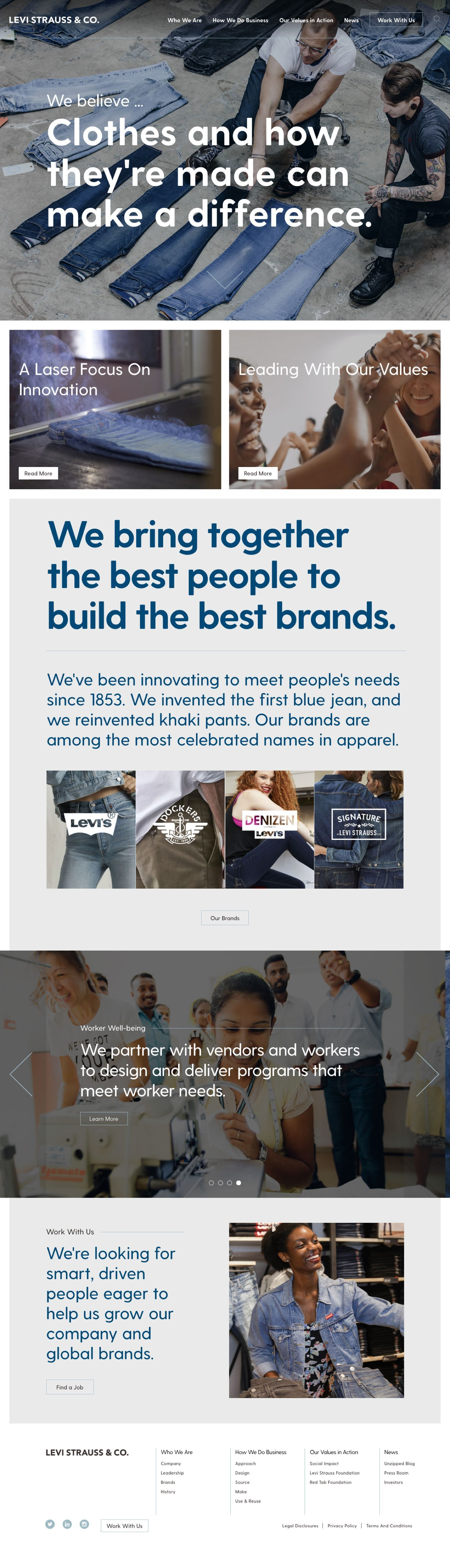 Levis Strauss Homepage