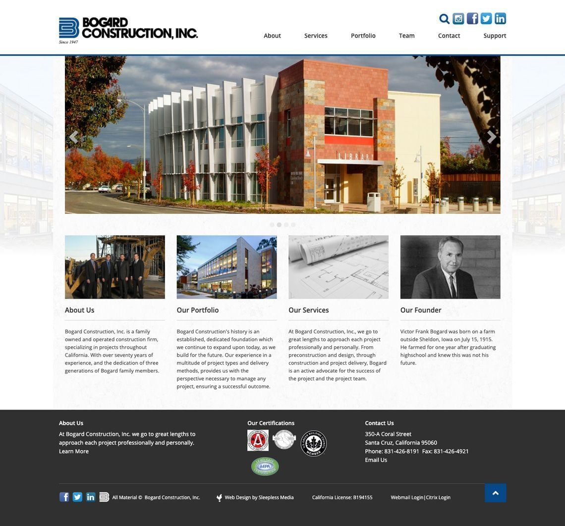 Bogard Construction Homepage