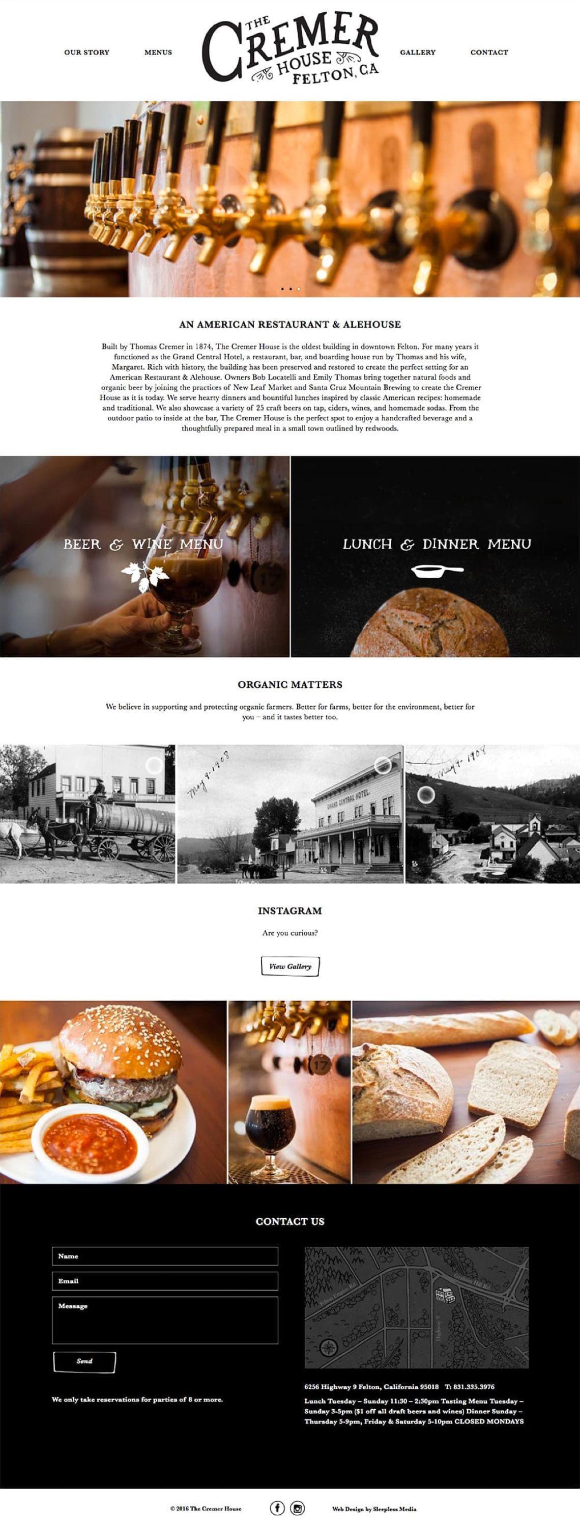 Cremer House homepage