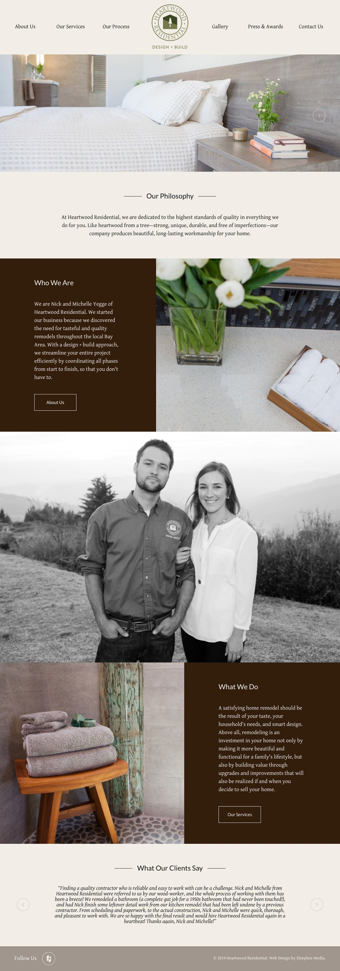Heartwood Residential Homepage