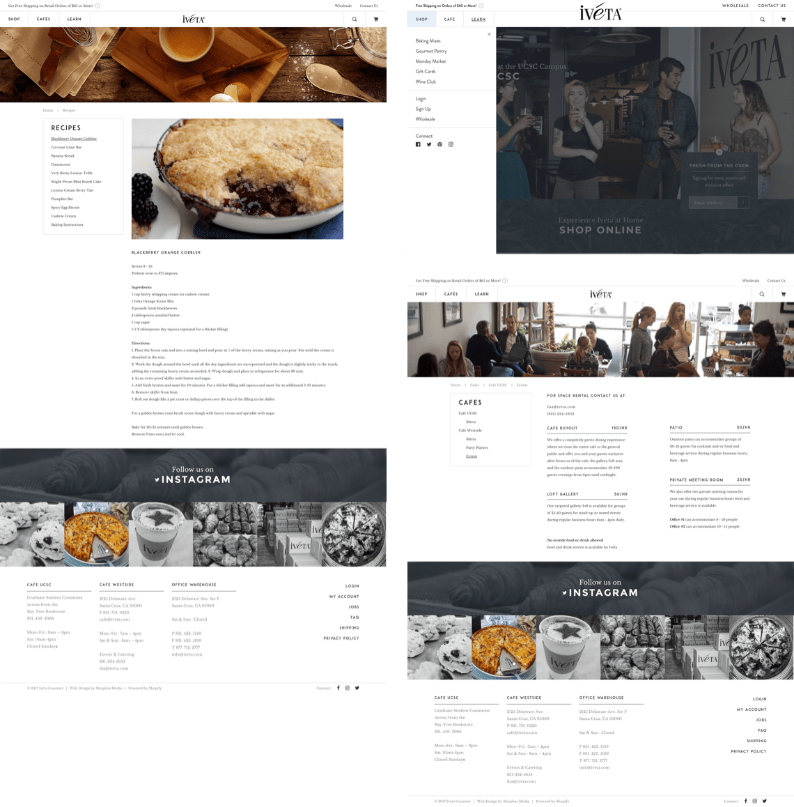 Iveta Interiors and Menu