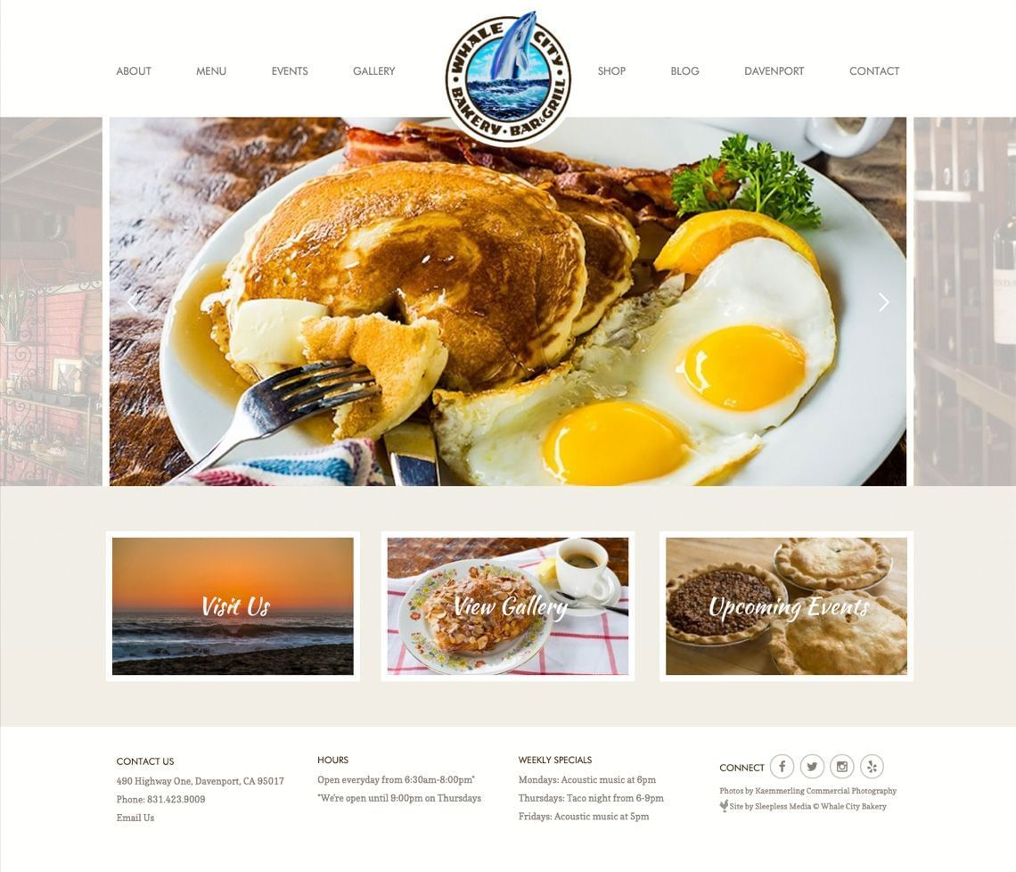 Whale City Homepage