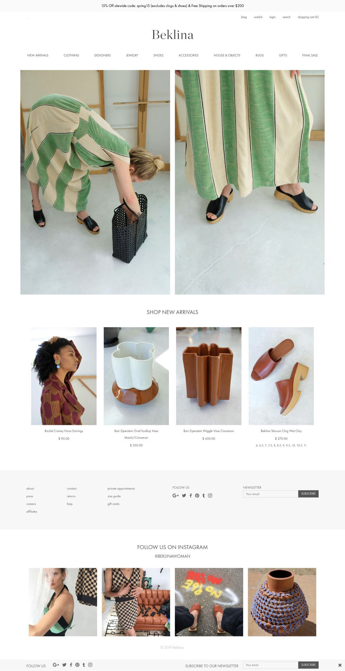 Beklina Homepage